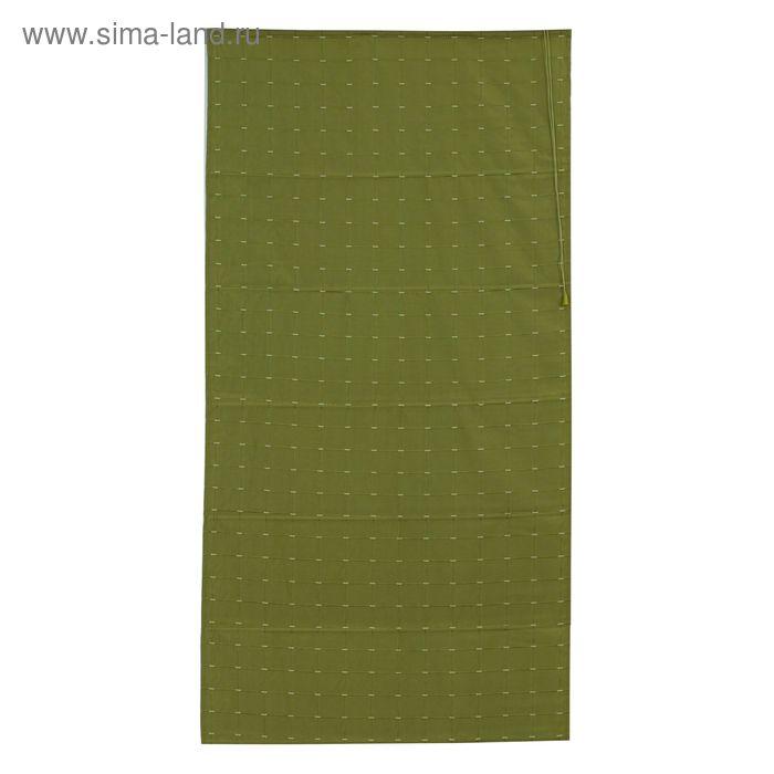 Римская тканевая штора 160х160 см Ammi, цвет зелёный