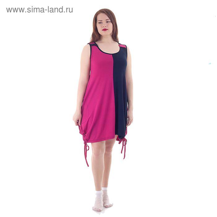 Туника женская, цвет малиновый, размер 56 (арт. 201ХВ1569)