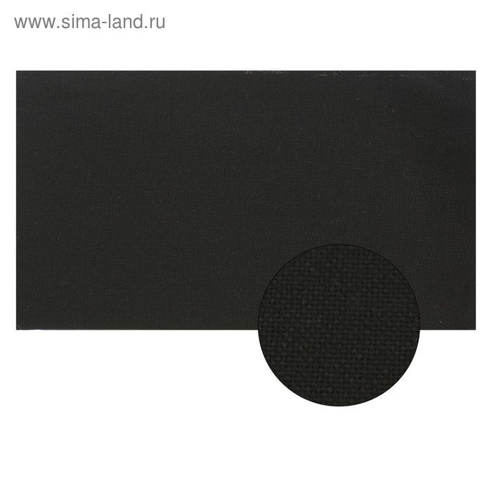 Канва для вышивания Linda, 50х50 см, цвет чёрный