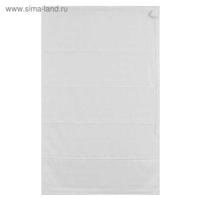 Римская тканевая штора 80х160 Ammi, цвет белый