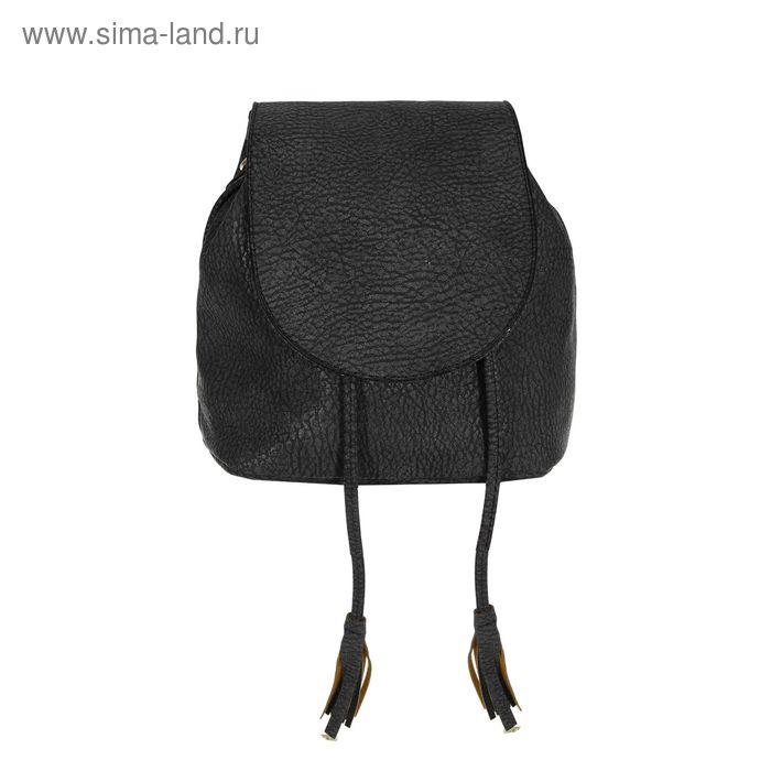 Сумка-рюкзак на молнии, 1 отдел, чёрная