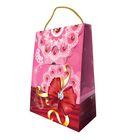"""Пакет с клапаном """"Поздравляю!"""" розовый с ручкой, 16,5х21,5х7 см"""