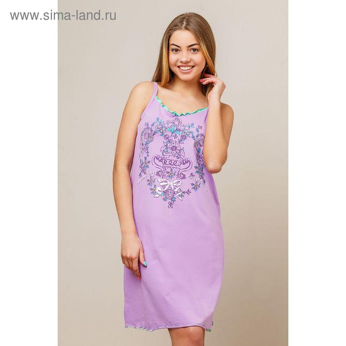 Сорочка женская, цвет сиреневый, размер 48 (арт. 8424)