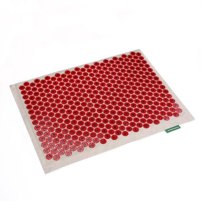 """Массажёр-аппликатор медицинский """"Тибетский"""", большой, на мягкой подложке, для чувствительной кожи, с магнитами, красный"""
