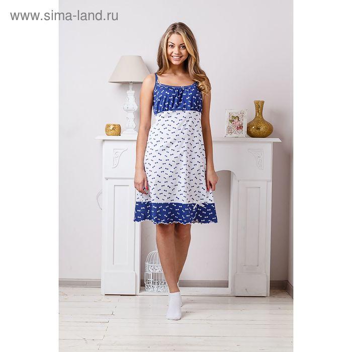 Сорочка женская, цвет бело-синий, размер 46 (арт. 8298)