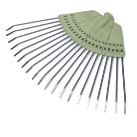 Грабли веерные, пластинчатые, 20 зубцов, металлические, пластиковая основа, тулейка 25 мм, без черенка