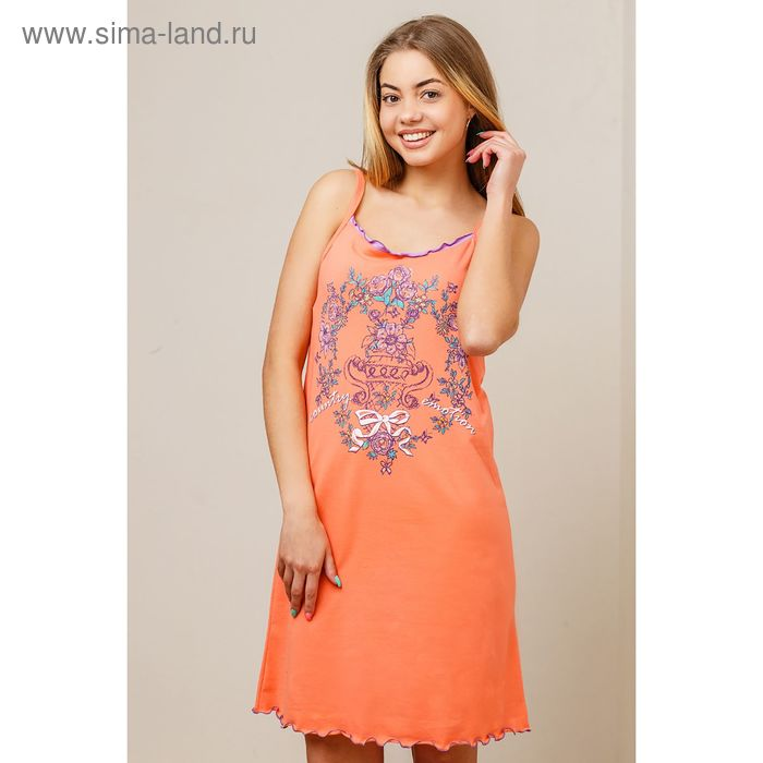 Сорочка женская, цвет оранжевый, размер 50 (арт. 8425)