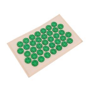 """Массажёр-аппликатор медицинский """"Тибетский"""" на мягкой подложке, для чувствительной кожи, зелёный"""