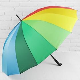 """Зонт трость полуавтомат """"Радуга"""", 412418, R=55см, разноцветный"""
