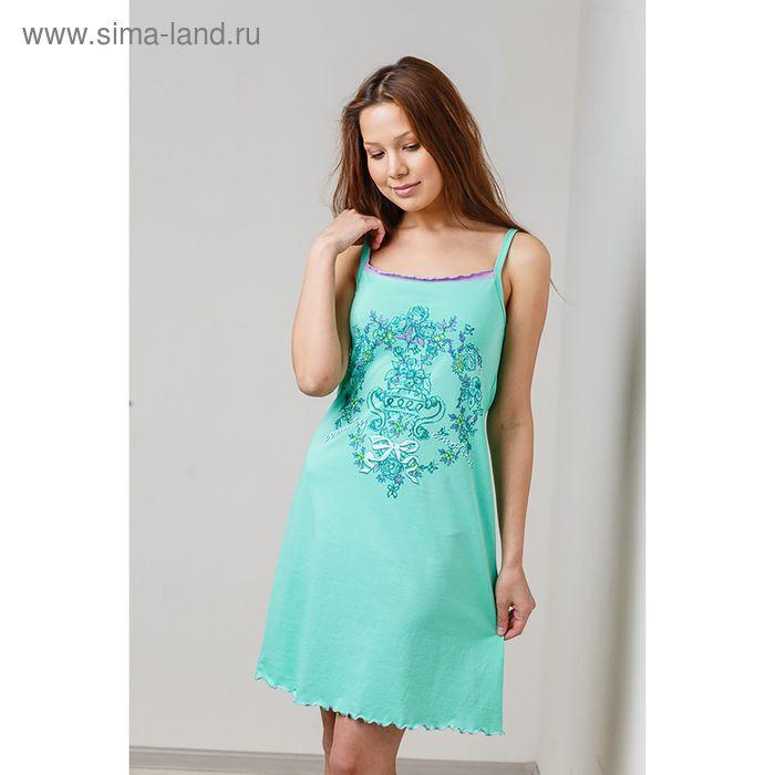 Сорочка женская, цвет зелёный, размер 46 (арт. 8426)