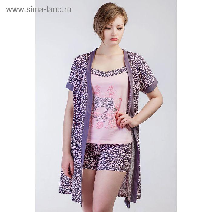 Комплект женский (халат, топ, шорты), размер 52 (арт. 8478)
