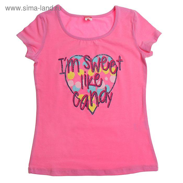 Футболка для девочки, рост 128 см, цвет светло-розовый (арт.CSJ 61350)