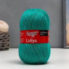 Пряжа Lidiya (ЛидияПШ) 50% шерсть, 50% акрил 1613м/100гр (920, зел.бирюза)