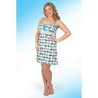 Сорочка  женская Пин-5 синий, р-р 44