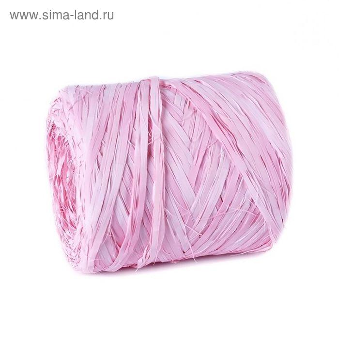 Рафия переход цвета,  розовая, 200 м
