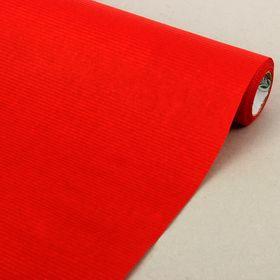 Бумага упаковочная крафт, двусторонняя красная, 0.5 х 10 м