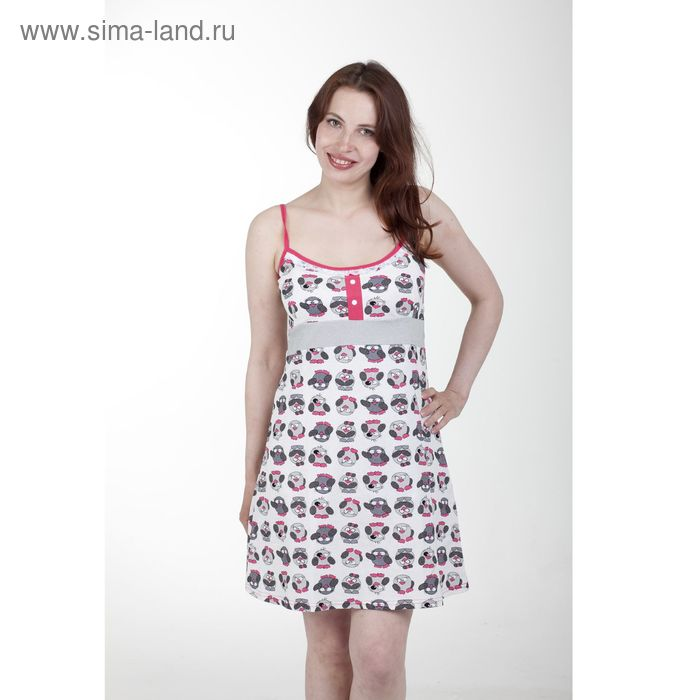 Сорочка женская Пин-5 малина, р-р 44