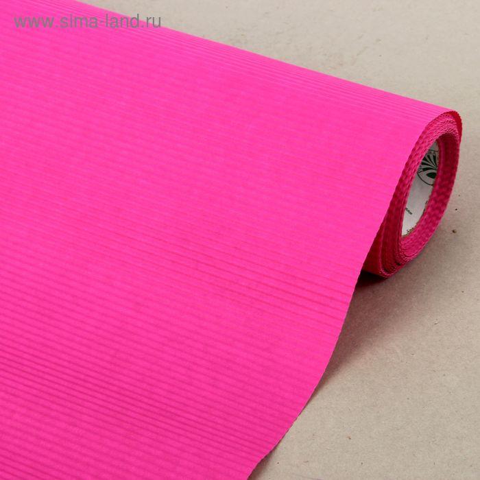 Бумага упаковочная крафт, двусторонняя розовая, 0.5 х 10 м