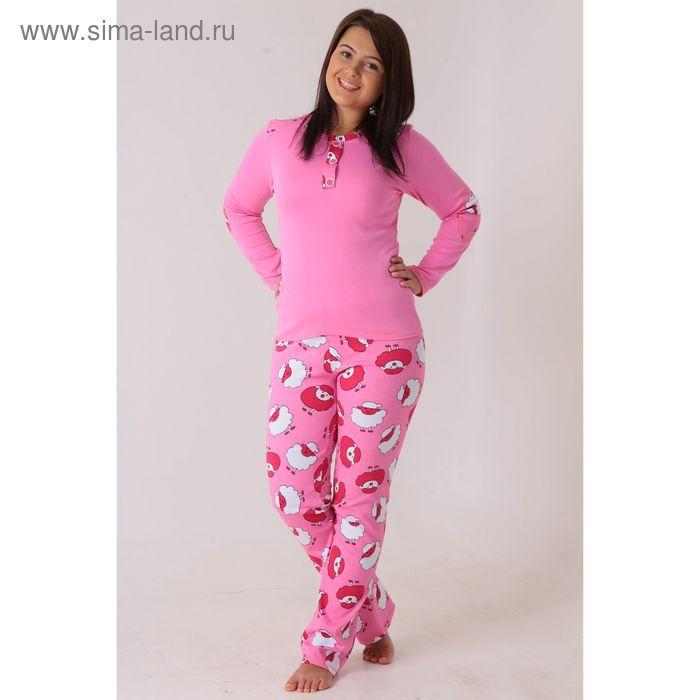 Комплект женский (фуфайка, брюки) Душка-1 малина, р-р 54