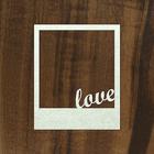 "Чипборд-рамка полароид ""Любовь"" толщ. 0,9-1,15 мм 9х11 см"
