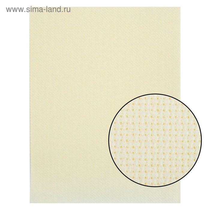 Канва для вышивания Aida №16, 30х40см, цвет кремовый