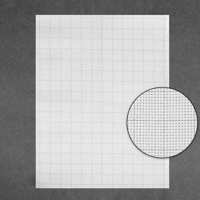 Канва для вышивания Aida №11, 30х40см, цвет белый в клетку