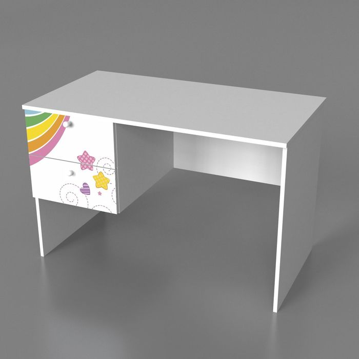 Стол с двумя ящиками Грезы 720*1100*600 Белый