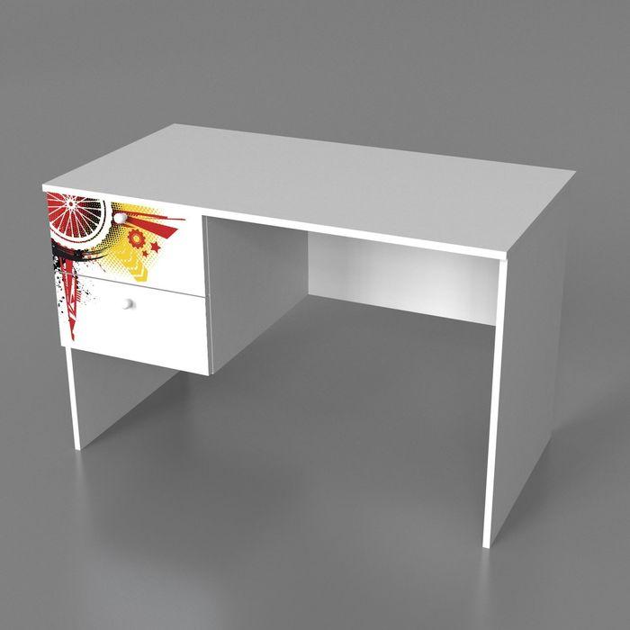 Стол с двумя ящиками Экстрим 720*1100*600 Белый