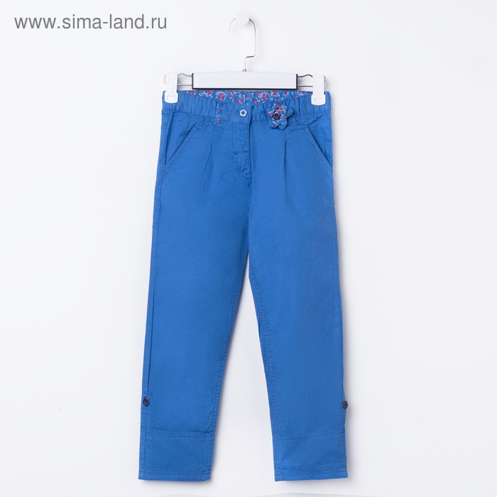Брюки для девочки, рост 116 см, цвет голубой (арт. CK 7T021)