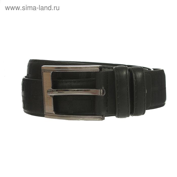 Ремень мужской, пряжка под металл, ширина - 4см, чёрный