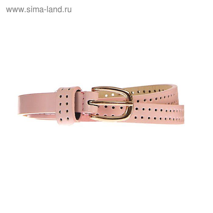 Ремень женский, пряжка под золото, ширина - 1,5см, розовый