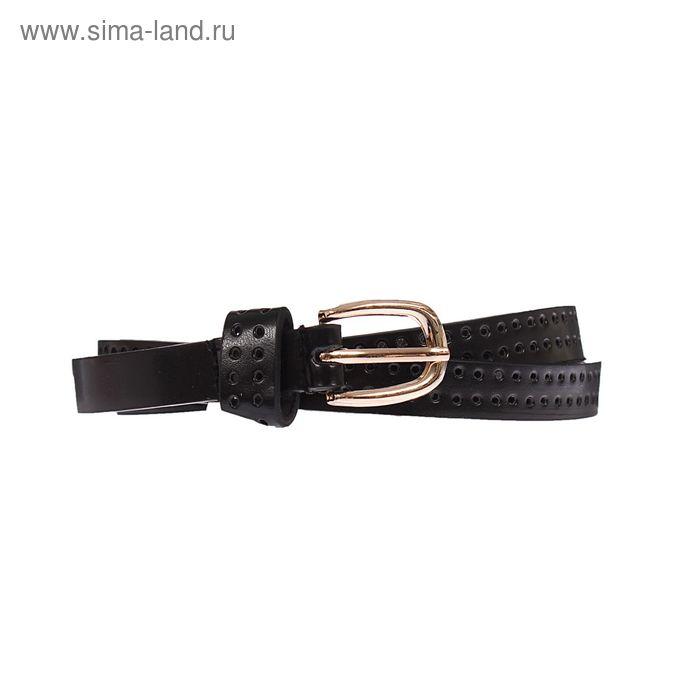 Ремень женский, пряжка под золото, ширина - 1,5см, чёрный