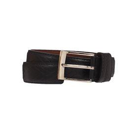 Ремень мужской, винт, пряжка под металл, ширина - 3,5см, чёрный Ош
