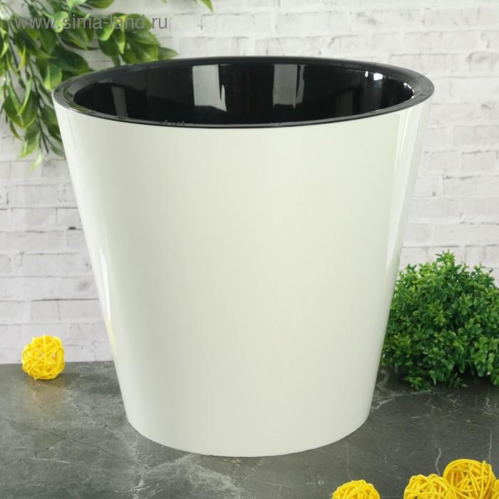 """Горшок для цветов 5 л """"Фиджи"""", d=23 см, цвет белый"""