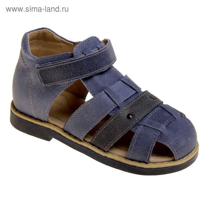 Туфли открытые малодетские Зебра, арт. 10695-5 (синий) (р. 29)