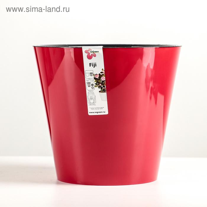 """Горшок для цветов 5 л """"Фиджи"""", d=23 см, цвет бордовый"""