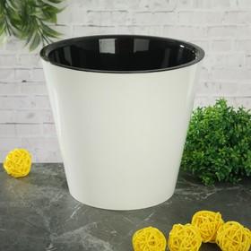 """Горшок для цветов 1,6 л """"Фиджи"""", d=16 см, цвет белый"""