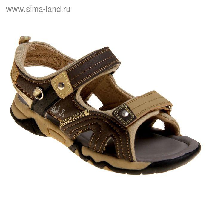 Туфли открытые школьные Зебра арт. 9221-3 (коричневый) (р. 30)