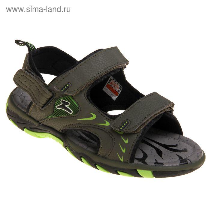 Туфли открытые школьные Зебра арт. 9221-3 (зеленый) (р. 37)