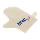 Рукавица для бани и сауны с вышивкой «МЧС», белая