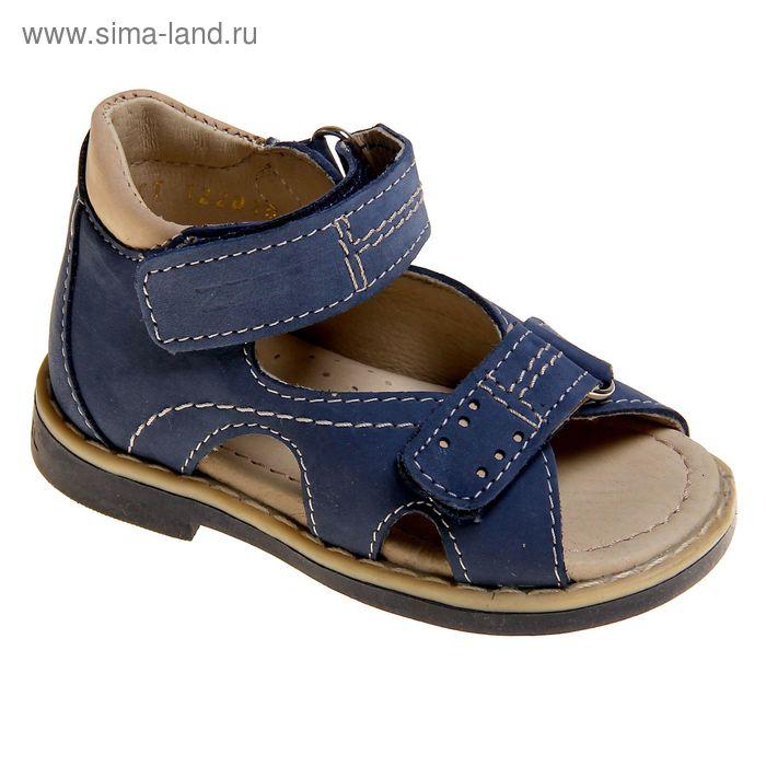 Туфли открытые малодетские Зебра, арт. 10688-5 (синий) (р. 20)