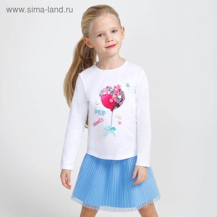 Джемпер детский для девочек Fruity, рост 140 см, цвет белый (арт. 20210100006)