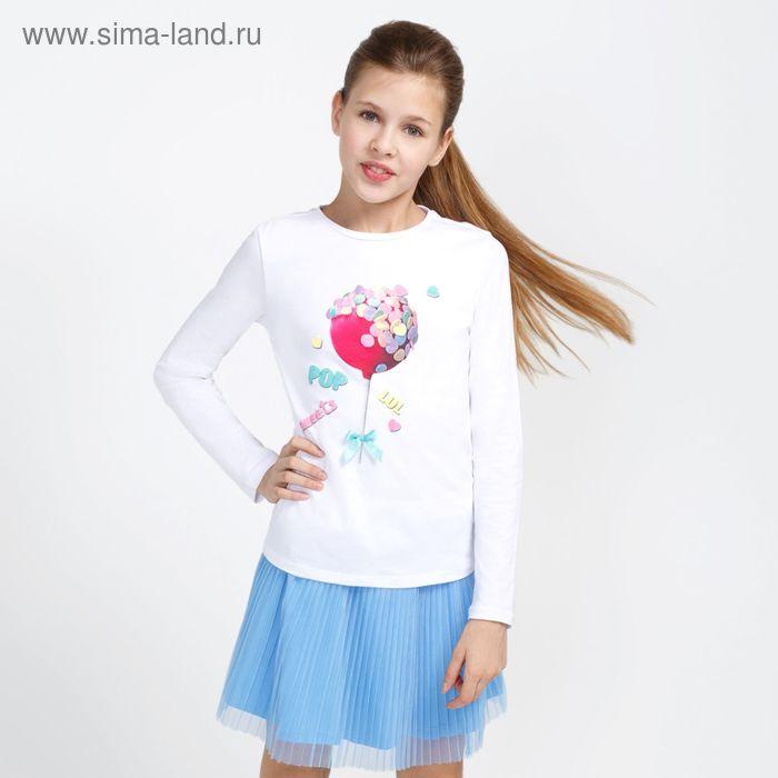 Джемпер детский для девочек Fruity, рост 164 см, цвет белый (арт. 20210100006)