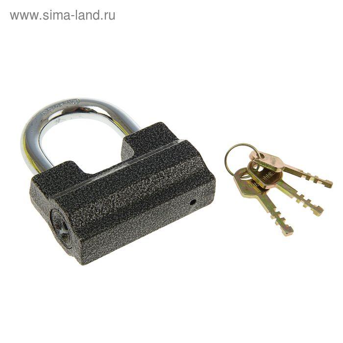 "Замок навесной ""АЛЛЮР"" ВС2-7С, дужка d=12 мм, 3 ключа с двойной нарезкой, цвет антик"
