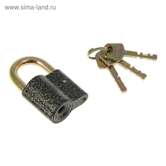 "Замок навесной ""АЛЛЮР"" ВС2-26С, дужка d=8 мм, 3 ключа с двойной нарезкой, цвет антик"