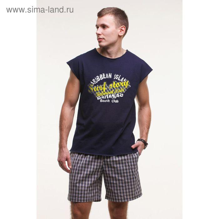 Комплект мужской (майка+шорты), цвет тёмно-синий, размер 52 (арт. М-748/2-26)