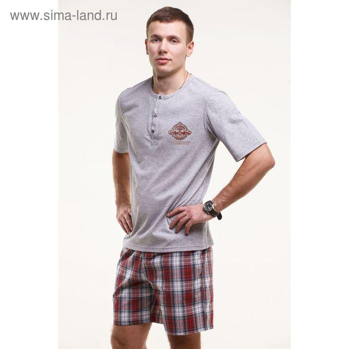Комплект мужской (футболка+шорты), цвет, меланж, размер 56 (арт. М-749/1-26)