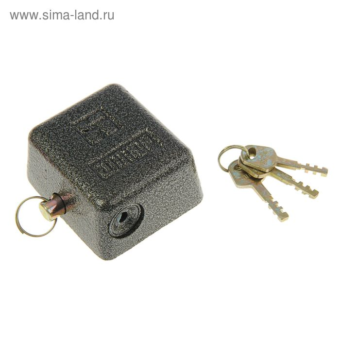 """Замок навесной """"АЛЛЮР"""" ВС2-10-01С, с закрытой дужкой, цвет антик серебряный"""