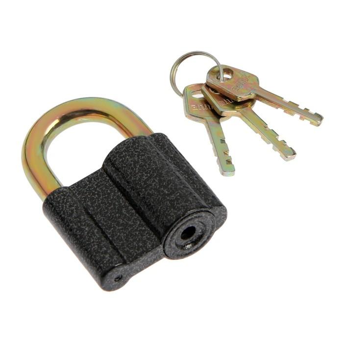 "Замок навесной ""АЛЛЮР"" ВС2-27С, дужка d=10 мм, 3 ключа с двойной нарезкой, цвет антик"