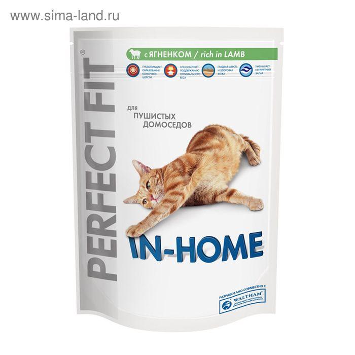 Сухой корм Perfect Fit для домашних кошек, ягненок, 650 г